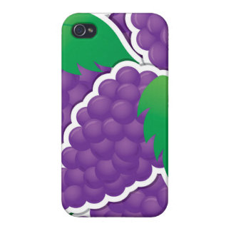 Funky purple grapes iPhone 4/4S case