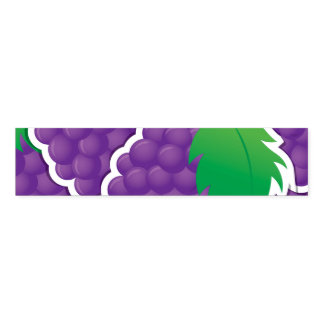 Funky purple grapes napkin band