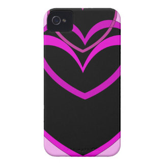 Funky Purple Hearts Valentines Day design iPhone 4 Cover