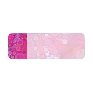 Funky Purple Pink Concentric Circles Girly Pattern Return Address Label