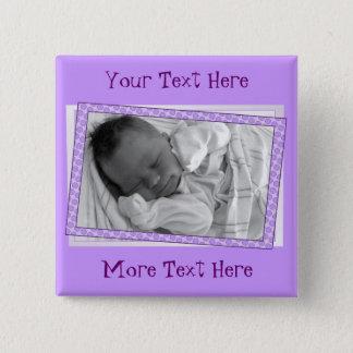 Funky Purple Polkadot Frame Button