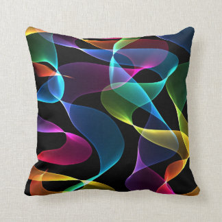 Funky rainbow Abstract color Cushion