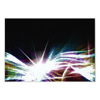 Funky Rainbow Halftone 3.5x5 Paper Invitation Card