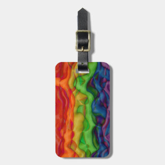 Funky Rainbow Hippie Pride Trippy Luggage Tag
