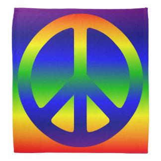 Funky Rainbow Peace Symbol Do-rag