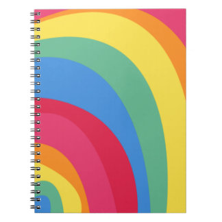 Funky Rainbow Spiral Notebooks