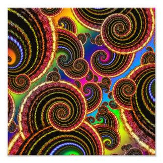 Funky Rainbow Swirl Fractal Art Pattern Art Photo