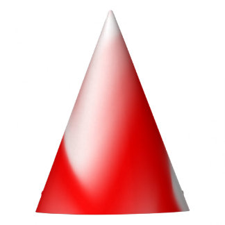 Funky Red and White Waves Party Hat