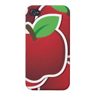 Funky red apples iPhone 4/4S cover