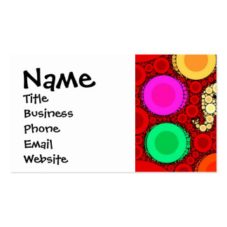 Funky Red Elephant Concentric Circles Mosaic Business Cards
