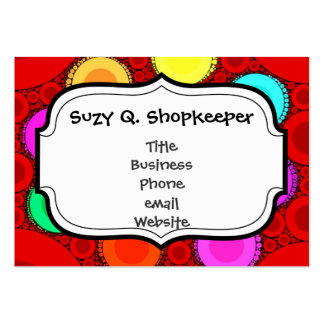 Funky Red Elephant Concentric Circles Mosaic Pack Of Chubby Business Cards