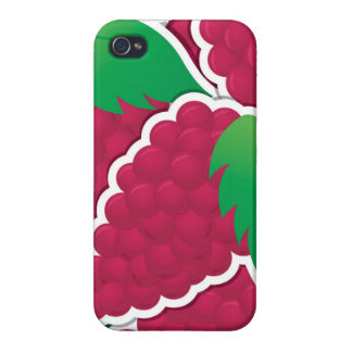Funky red grapes iPhone 4 case