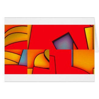 Funky red jumble card