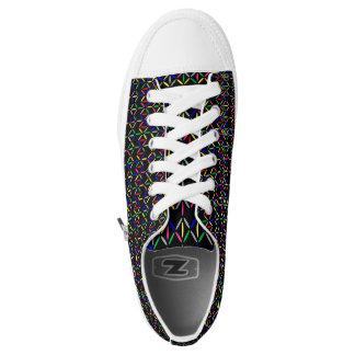 funky retro bold on black shoe 2