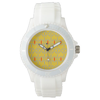 funky retro bold on mustard watches