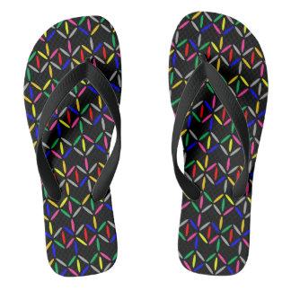 funky retro boldmon black flip flop black straps