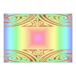 Funky Retro Bright Pastel Rainbow Geometric Blur Personalized Invite