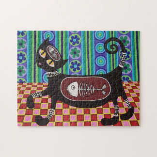 Funky retro cat puzzle by Soozie Wray
