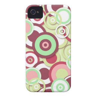Funky Retro Circles Pattern in Pinks and Greens Blackberry Case