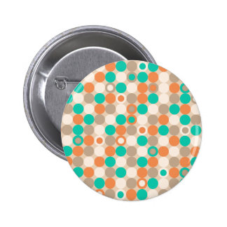 Funky Retro Circles Polka Dots Pattern Buttons