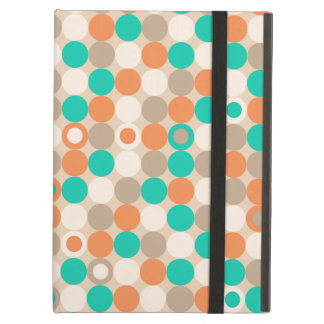 Funky Retro Circles Polka Dots Pattern iPad Air Cases