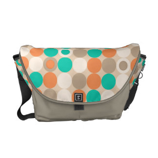 Funky Retro Circles Polka Dots Pattern Commuter Bags