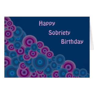 Sobriety birthday cards invitations zazzle funky retro circles sobriety birthday card bookmarktalkfo Choice Image