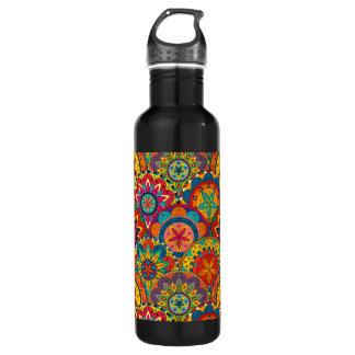 Funky Retro Colorful Mandala Pattern 710 Ml Water Bottle
