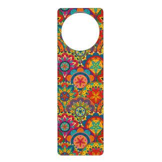 Funky Retro Colorful Mandala Pattern Door Knob Hanger