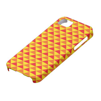Funky Retro Design - Red/Yellow iPhone 5 Covers