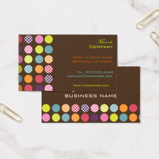 Funky retro dots dots/ DIY background color Business Card