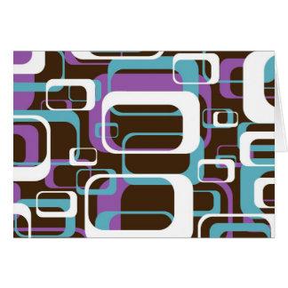 Funky Retro Geometric Pattern Note Card