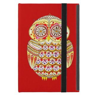 Funky Retro Owl iPad Mini Case with Kickstand