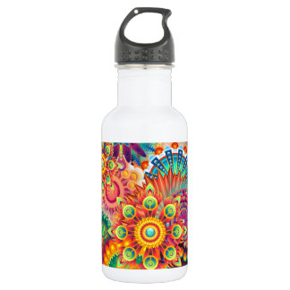 Funky Retro Pattern Abstract Bohemian 532 Ml Water Bottle