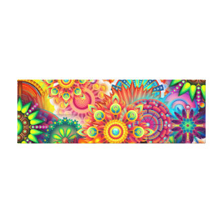 Funky Retro Pattern Abstract Bohemian Canvas Print
