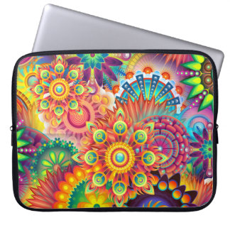 Funky Retro Pattern Abstract Bohemian Laptop Computer Sleeve