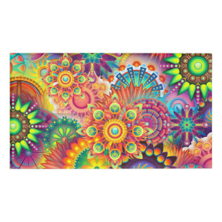 Funky Retro Pattern Abstract Bohemian Name Tag