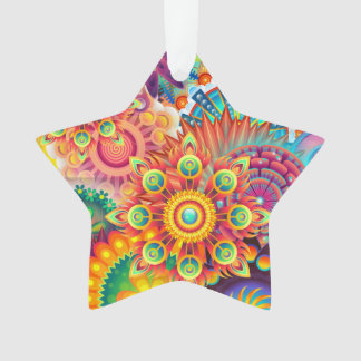 Funky Retro Pattern Abstract Bohemian Ornament
