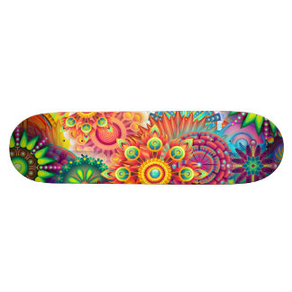 Funky Retro Pattern Abstract Bohemian Skateboards