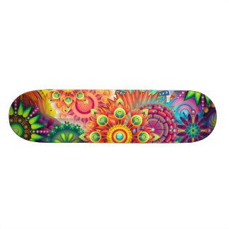 Funky Retro Pattern Abstract Boho Skateboard