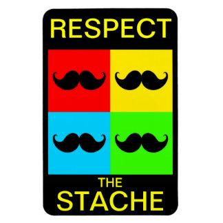 Funky Retro Pop Art Mustache Moustache Stache Rectangle Magnets