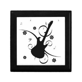 Funky retro pop rock guitar fun cufflinks box small square gift box