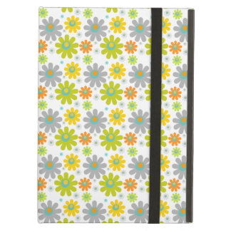 Funky Retro Spring Flowers Red Green Blue Yellow