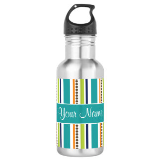 Funky Retro Stripes and Spots 532 Ml Water Bottle