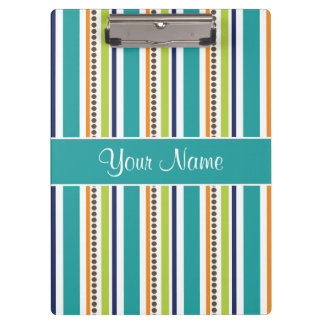 Funky Retro Stripes and Spots Clipboard