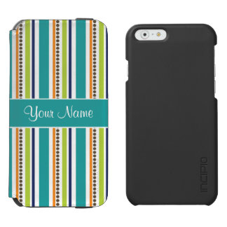Funky Retro Stripes and Spots Incipio Watson™ iPhone 6 Wallet Case