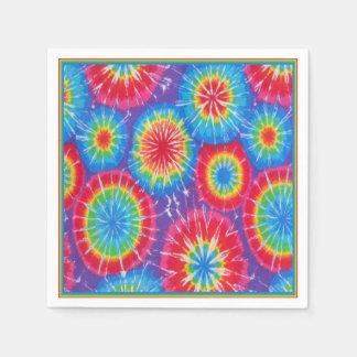 Funky Retro Tie Dye Napkins Paper Napkin