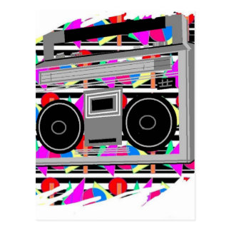FUNKY RETRO VINTAGE  80s TAPE PLAYER Postcard
