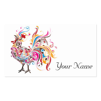 Funky Rooster Pack Of Standard Business Cards