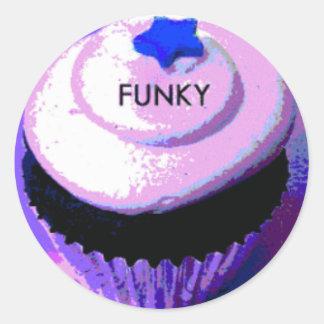 funky round sticker